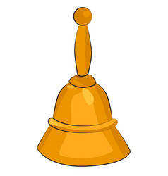 cartoon image of bell icon vector image
