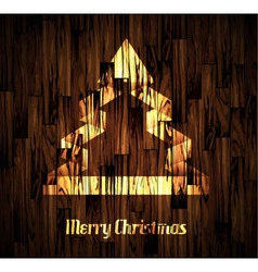 Christmas Backgraound with a stylish tree vector