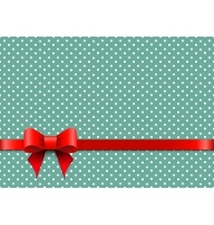 Christmas background with polka dots vector image