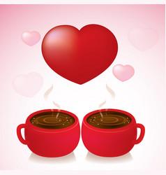 coffee love valentine day vector image