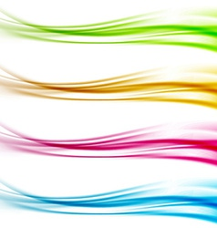 Collection of colorful bright web header footer vector