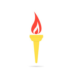 Color olympic flame icon vector