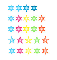 Colored stars set vector