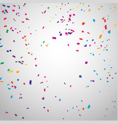 colorful celebration background with confetti vector image