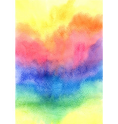 colorful rainbow watercolor grunge background vector image