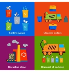 Concept of cleaning sorting processing and vector