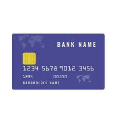 Credit bank card mockup online payment or cash vector