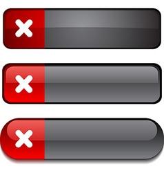 Cross button set vector
