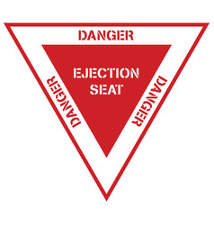 Danger ejection seat aircraft aviation symbol vector