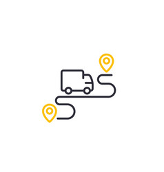 delivery service icon logistics concept line art vector image
