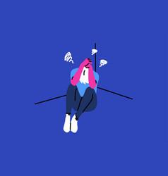 depression fatigue mental stress frustration vector image