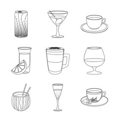 drink and bar sign set of vector image