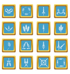 ear corn icons set sapphirine square vector image