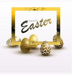 easter composition with a silhouette of eggs of a vector image
