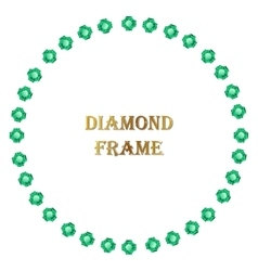 Emerald round frame vector image