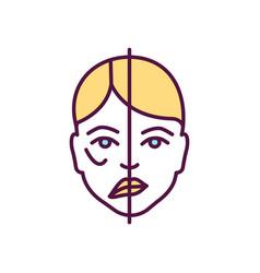 Facial paralysis rgb color icon vector