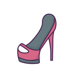 female high heels accessory icon on white vector image