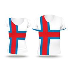 Flag shirt design of Faroe Islands vector image