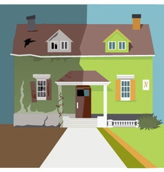 Flip the house vector