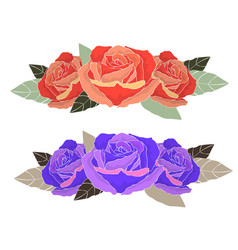 floral arrangement design greeting card and vector image