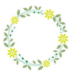 Floral wreath on white background vector