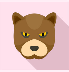 furious bear icon flat style vector image