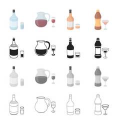 gin strong alcohol rum wine sangria vermouth vector image