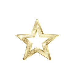 golden star shiny christmas decoration element vector image