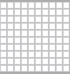 grey squares mosaic tile on white background vector image