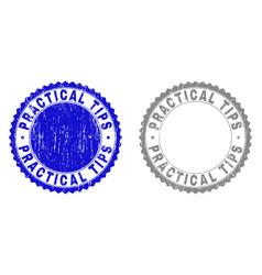 grunge practical tips scratched stamp seals vector image