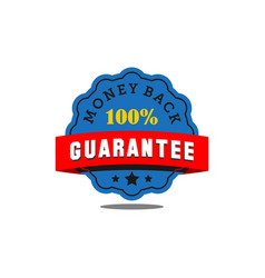 guarantee badge seal stamp vector image
