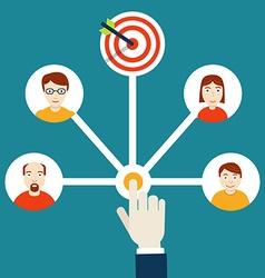 Human resources management HR-management vector