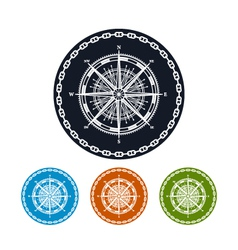 Icon compass rose vector