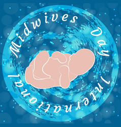 International midwives day newborn baby vector