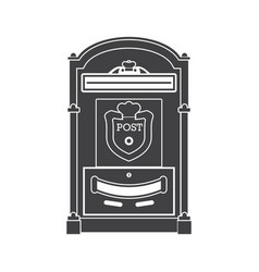 Mail box post outline icon vector