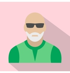 Man with gray beard avatar icon vector image