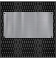Metal plate over grate texture vector image