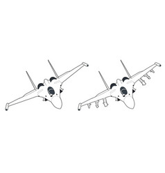 modern russian jet fighter aircraft vector image