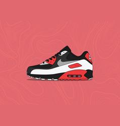 Nike air max 90 og reverse infrared vector