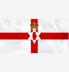 Northern ireland waving flag northern ireland vector