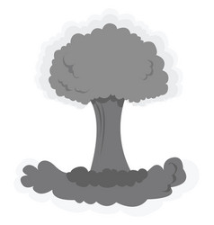 Nuclear mushroom cloud on white background vector