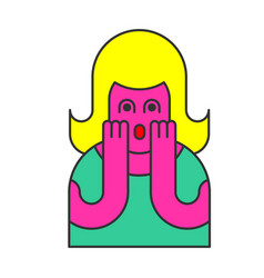 oh my god woman pop art style omg girl in fear vector image