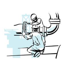 Oil worker vector