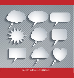 paper cut style speech bubbles vector image