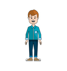 people man with casual cloth avatar icon vector image