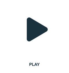 play icon line style icon design ui vector image