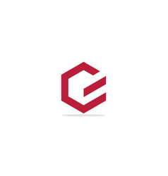 polygon g initial line company logo vector image
