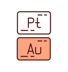 Precious metals rgb color icon vector