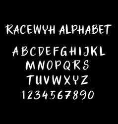 racewyh alphabet typography vector image