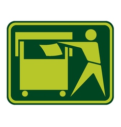 Recycling Sign Label vector image